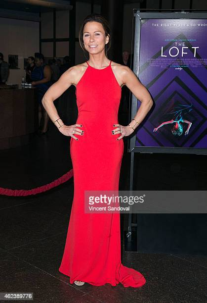 Actress Rhona Mitra attends the Los Angeles special screening of 'The Loft' at Directors Guild Of America on January 27 2015 in Los Angeles California