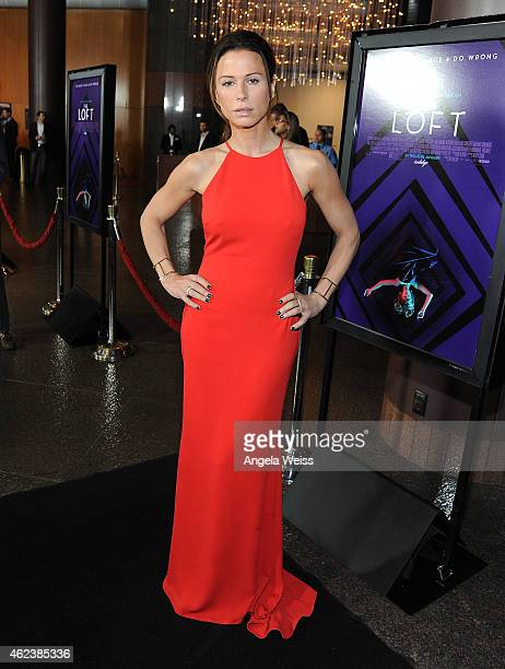 Actress Rhona Mitra attends the screening of Open Road Films' 'The Loft' at Directors Guild Of America on January 27 2015 in Los Angeles California