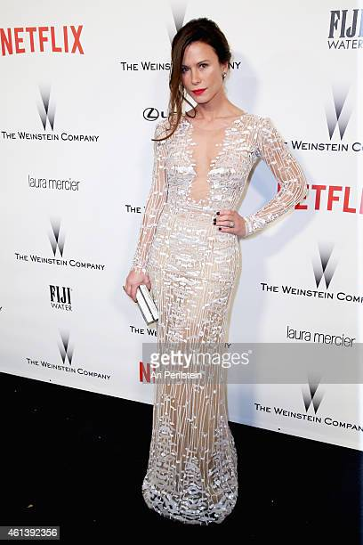 Actress Rhona Mitra attends The Weinstein Company Netflix's 2015 Golden Globes After Party presented by FIJI Water Lexus Laura Mercier and Marie...