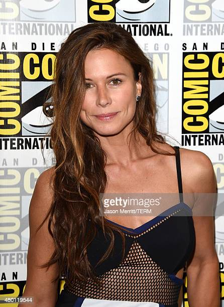 Actress Rhona Mitra attends TNT's 'The Last Ship' Press Room during ComicCon International 2015 at Hilton Bayfront on July 9 2015 in San Diego...