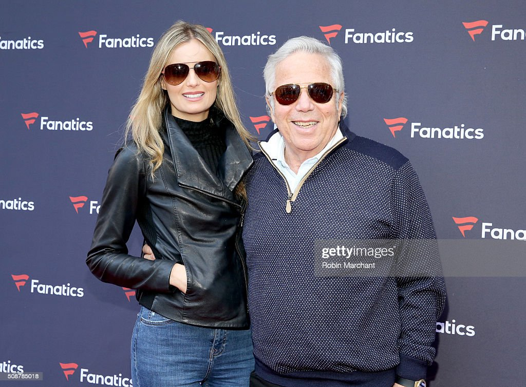 Actress Ricki Noel Lander and CEO of the Kraft Group <a gi-track='captionPersonalityLinkClicked' href=/galleries/search?phrase=Robert+Kraft&family=editorial&specificpeople=221220 ng-click='$event.stopPropagation()'>Robert Kraft</a> attend Fanatics Super Bowl Party on February 6, 2016 in San Francisco, California.