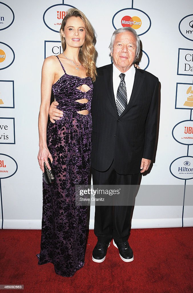 Actress Ricki Noel Lander (L) and New England Patriots Owner <a gi-track='captionPersonalityLinkClicked' href=/galleries/search?phrase=Robert+Kraft&family=editorial&specificpeople=221220 ng-click='$event.stopPropagation()'>Robert Kraft</a> attend the 56th annual GRAMMY Awards Pre-GRAMMY Gala and Salute to Industry Icons honoring Lucian Grainge at The Beverly Hilton on January 25, 2014 in Los Angeles, California.