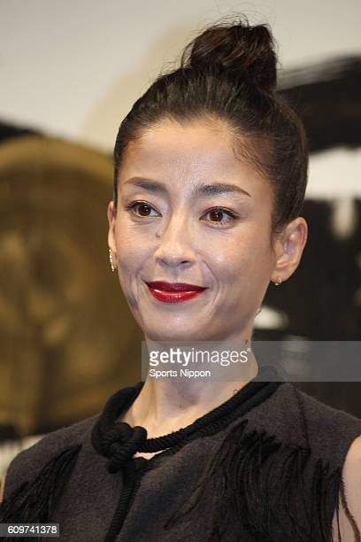Actress Rie Miyazawa attends Audible press conference on November 16 2015 in Tokyo Japan