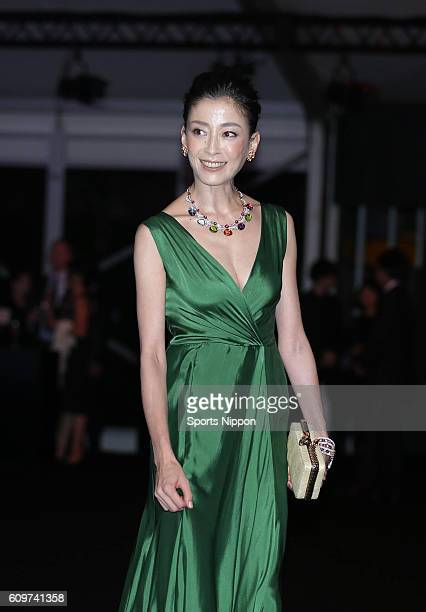 Actress Rie Miyazawa attends opening party of The Art of BVLGARI 130 Years of Italian Masterpieces exhibition on September 7 2015 in Tokyo Japan
