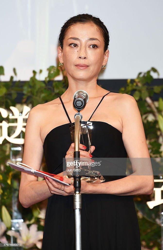 Actress Rie Miyazawa attends the Hoso Bunka Foundation Prize on July 7, 2015 in Tokyo, Japan.