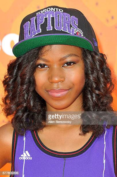 Actress Riele Downs arrives at the Nickelodeon Kids' Choice Sports Awards 2016 at UCLA's Pauley Pavilion on July 14 2016 in Westwood California