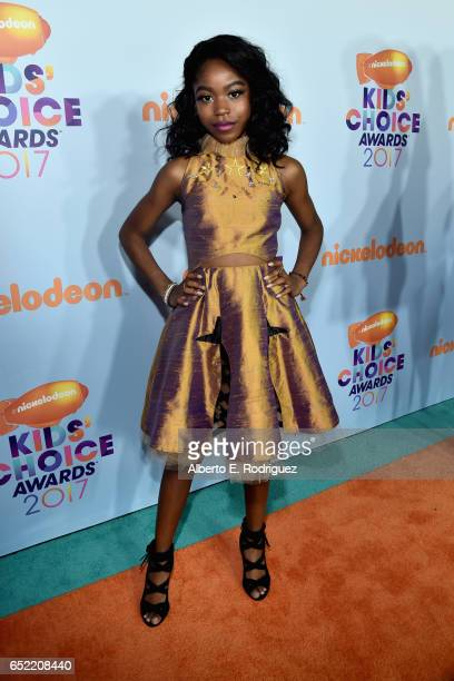 Actress Riele Downs at Nickelodeon's 2017 Kids' Choice Awards at USC Galen Center on March 11 2017 in Los Angeles California