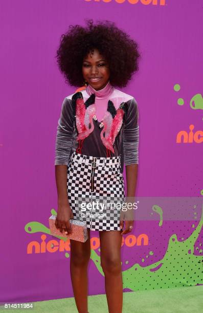 Actress Riele Downs attends the Nickelodeon Kids' Choice Sports Awards 2017 at Pauley Pavilion on July 13 2017 in Los Angeles California