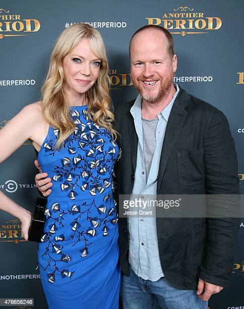 Actress Riki Lindhome and writer Joss Whedon attend Comedy Central's 'Another Period' Premiere Party Event at The Ebell Club of Los Angeles on June...