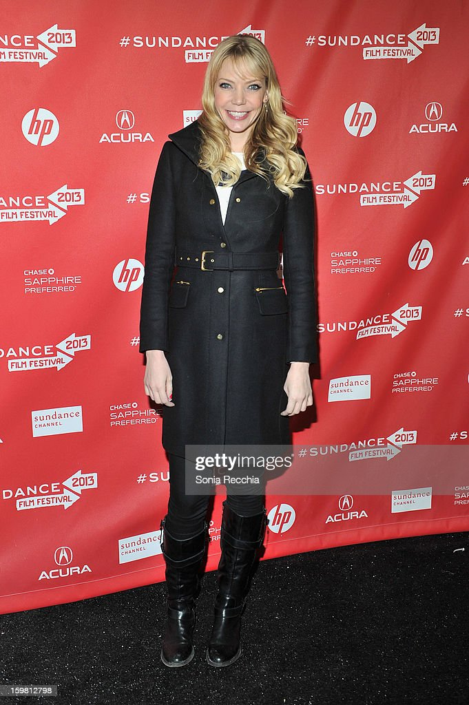 Actress Riki Lindhome attends the 'Hell Baby' premiere at Library Center Theater during the 2013 Sundance Film Festival on January 20, 2013 in Park City, Utah.