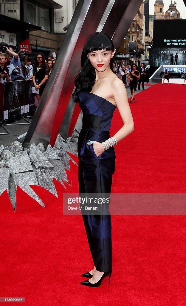 Actress Rila Fukushima attends the UK Premiere of 'The Wolverine' at Empire Leicester Square on July 16, 2013 in London, England.