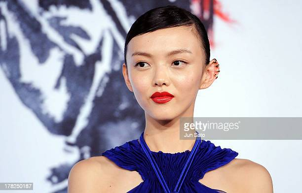 Actress Rila Fukushima attends 'The Wolverine' Japan Premiere at the Roppongi Hills on August 28 2013 in Tokyo Japan
