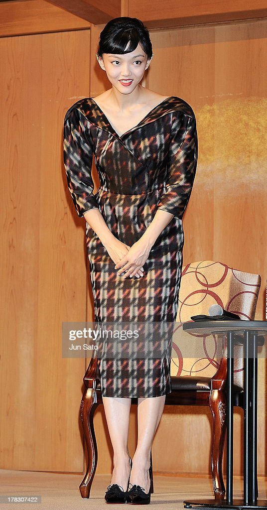 Actress <a gi-track='captionPersonalityLinkClicked' href=/galleries/search?phrase=Rila+Fukushima&family=editorial&specificpeople=10133717 ng-click='$event.stopPropagation()'>Rila Fukushima</a> attends 'The Wolverine' press conference at the Meguro Gajyoen on August 29, 2013 in Tokyo, Japan.