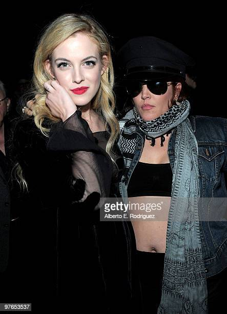 Actress Riley Keough and mother and singer Lisa Marie Presley attend the after party for the premiere of Apparition's 'The Runaways' held at ArcLight...