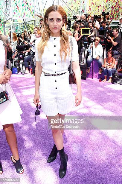 Actress Riley Keough attends the Christian Dior show as part of Paris Fashion Week Haute Couture Fall/Winter 2015/2016 on July 6 2015 in Paris France