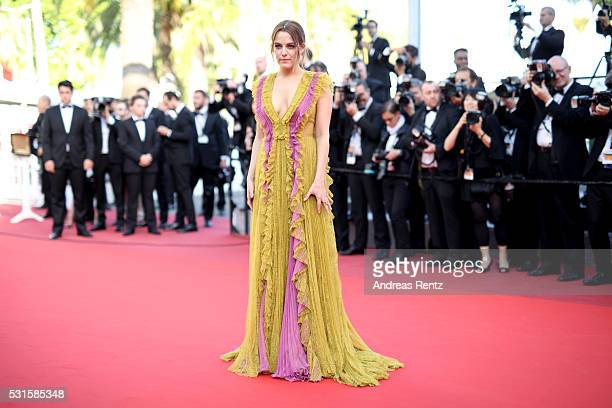 Actress Riley Keough leaves the 'American Honey' premiere during the 69th annual Cannes Film Festival at the Palais des Festivals on May 15 2016 in...
