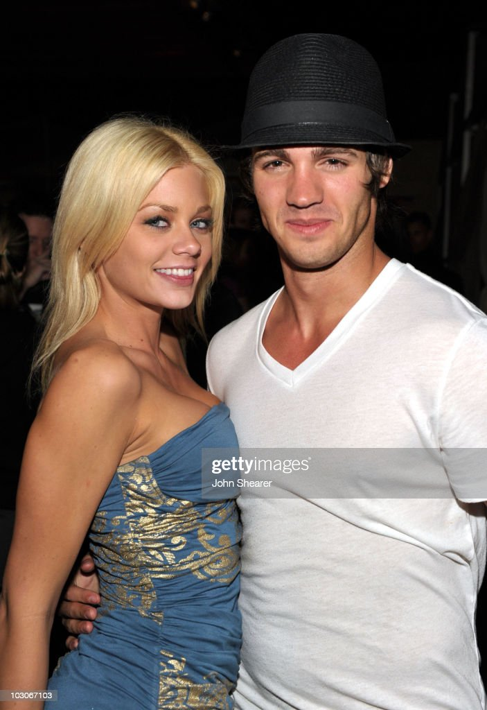Actress Riley Steele and actor Steven R McQueen attend the Pirahna 3D 'Too Hot For ComicCon' party sponsored by Real D 3D and Svedka Vodka held at At...