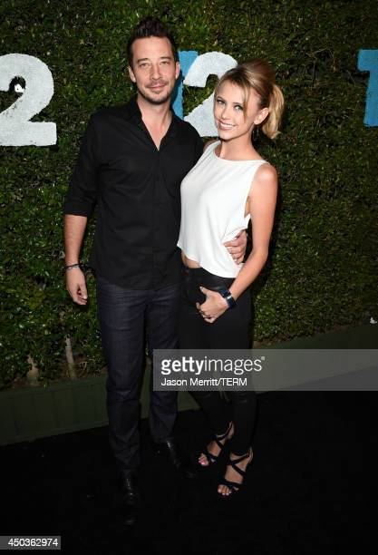 Actress Riley Voelkel and guest attend the TakeTwo E3 Kickoff Party at Cecconi's Restaurant on June 9 2014 in Los Angeles California