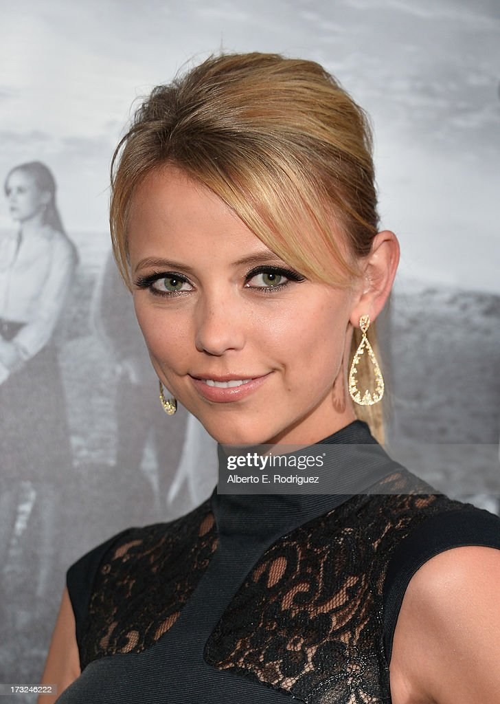 Actress Riley Voelkel arrives for the premiere of HBO's 'The Newsroom' Season 2 at Paramount Theater on the Paramount Studios lot on July 10, 2013 in Hollywood, California.