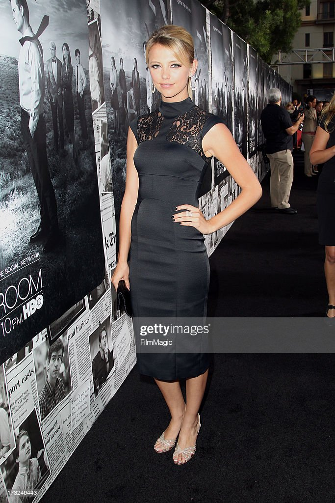 Actress Riley Voelkel attends HBO's 'The Newsroom' season 2 premiere at Paramount Studios on July 10, 2013 in Hollywood, California.