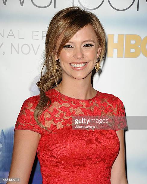 Actress Riley Voelkel attends the premiere of 'The Newsroom' at DGA Theater on November 4 2014 in Los Angeles California