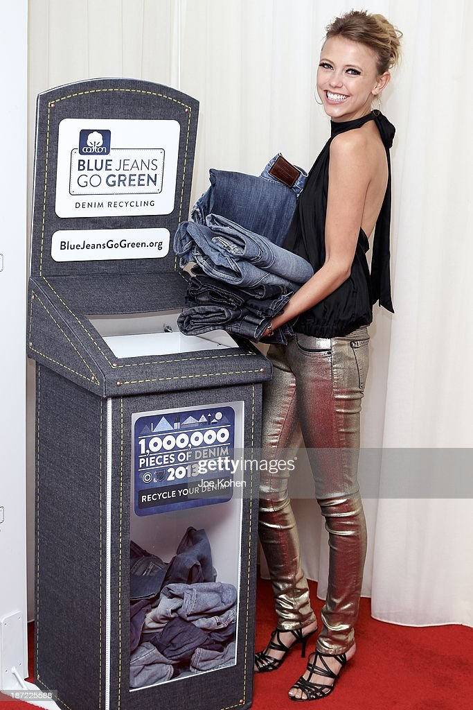 Actress Rilley Voelkel attends Blue Jeans go green celebrates 1 Million pieces of denim collected for recycling hosted by Miles Teller at SkyBar at the Mondrian Los Angeles on November 6, 2013 in West Hollywood, California.