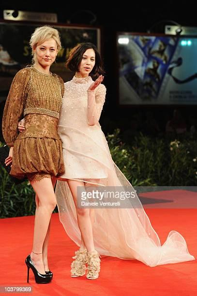 Actress Rinko Kikuchi and actress Kiko Mizuhara attend the 'Norwegian Wood' premiere at the Palazzo del Cinema during the 67th International Venice...