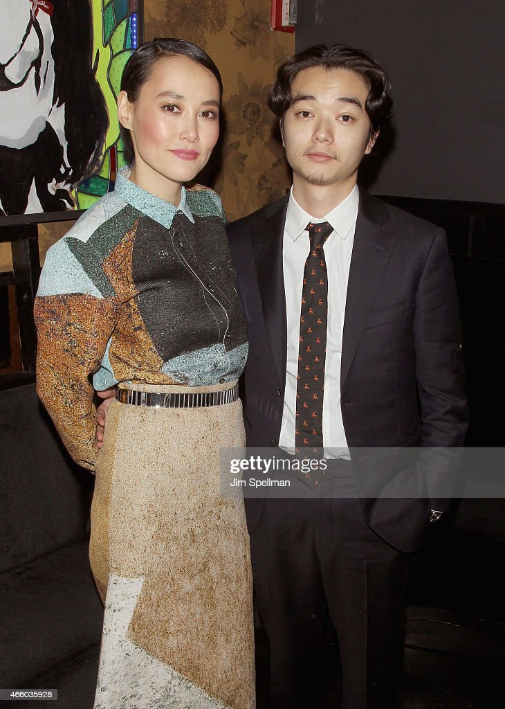 Actress Rinko Kikuchi and husband Shota Sometani attend the after party for the screening of 'Kumiko The Treasure Hunter' hosted by Amplify Releasing...