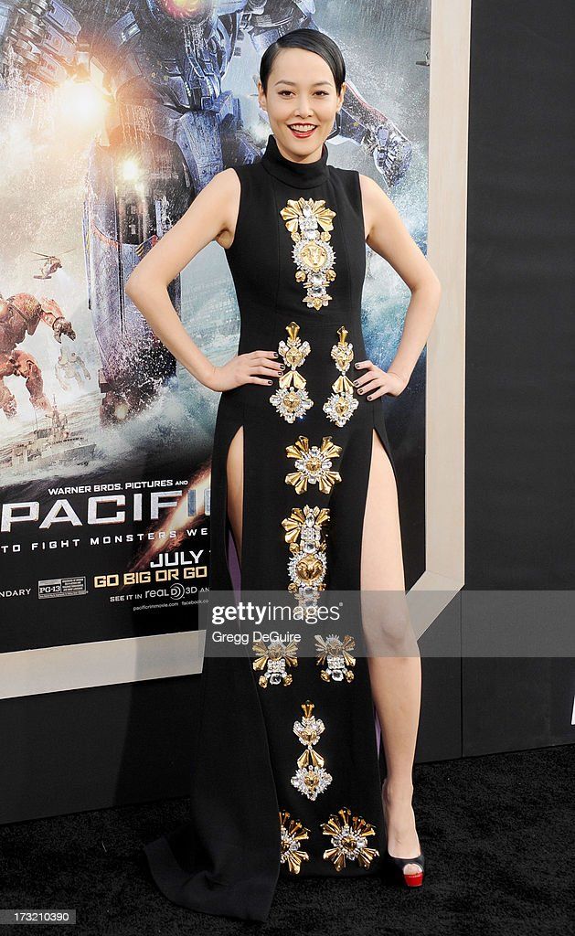 Actress Rinko Kikuchi arrives at the Los Angeles premiere of 'Pacific Rim' at Dolby Theatre on July 9, 2013 in Hollywood, California.