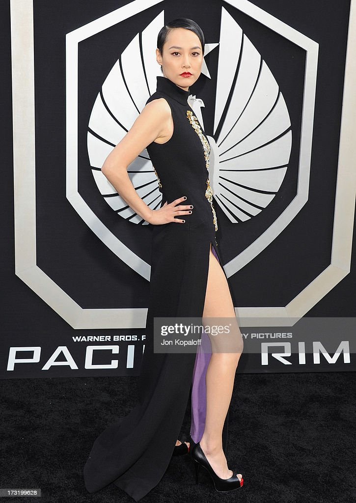 Actress Rinko Kikuchi arrives at the Los Angeles Premiere 'Pacific Rim' at Dolby Theatre on July 9, 2013 in Hollywood, California.