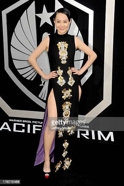 Actress Rinko Kikuchi arrives at the 'Pacific Rim' Los Angeles Premiere at Dolby Theatre on July 9 2013 in Hollywood California