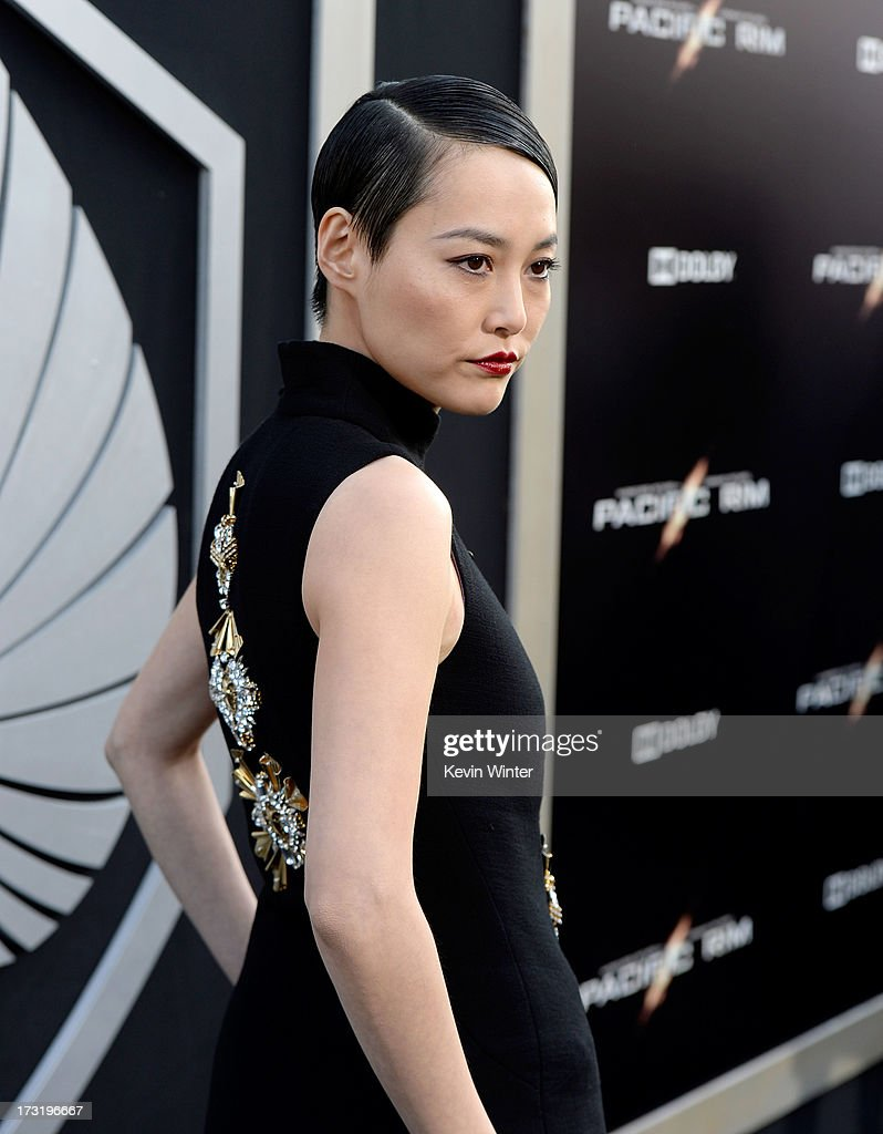 Actress Rinko Kikuchi arrives at the premiere of Warner Bros. Pictures' and Legendary Pictures' 'Pacific Rim' at Dolby Theatre on July 9, 2013 in Hollywood, California.