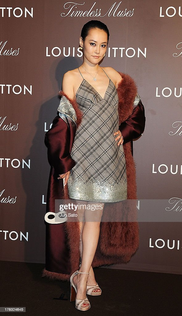 Actress Rinko Kikuchi attends Louis Vuitton 'Timeless Muses' exhibition at the Tokyo Station Hotel on August 29, 2013 in Tokyo, Japan.