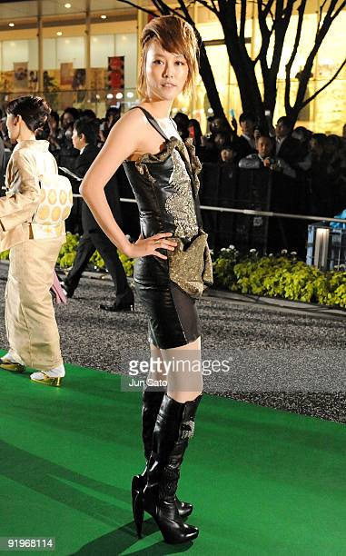 Actress Rinko Kikuchi attends the 22nd Tokyo International Film Festival Opening Ceremony at Roppongi Hills on October 17 2009 in Tokyo Japan TIFF...
