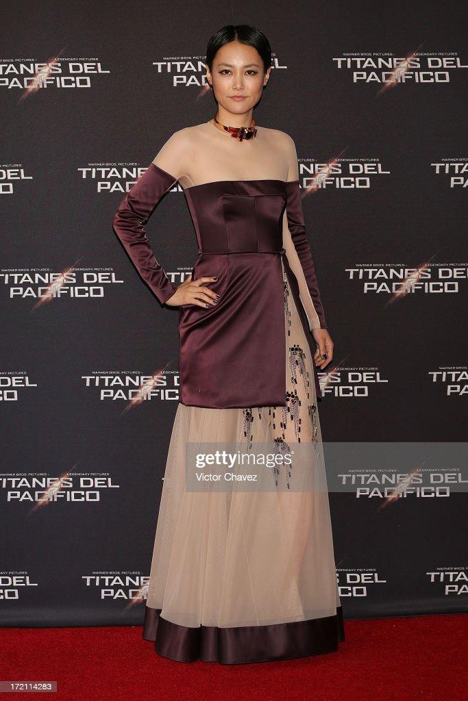 Actress Rinko Kikuchi attends the 'Pacific Rim (Titanes Del Pacifico)' Mexico City premiere at Reforma 222 on July 1, 2013 in Mexico City, Mexico.