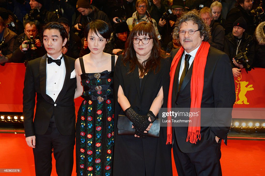Actress Rinko Kikuchi her husband actor Shota Sometani director Isabel Coixet and guest attends the 'Nobody Wants the Night' Opening Night premiere...