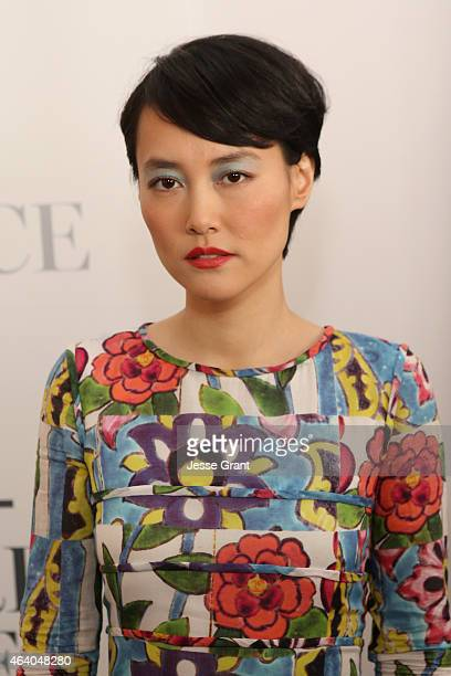 Actress Rinko Kikuchi of Japan poses for Lincoln Motor Company during the 30th Annual Film Independent Spirit Awards at Santa Monica Beach on...