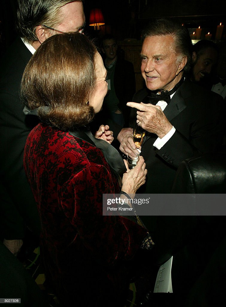 Actress Rita Gam and actor Cliff Robertson attend the AMPAS Official Oscar Night Celebration at Le Cirque February 29, 2004 in New York City.