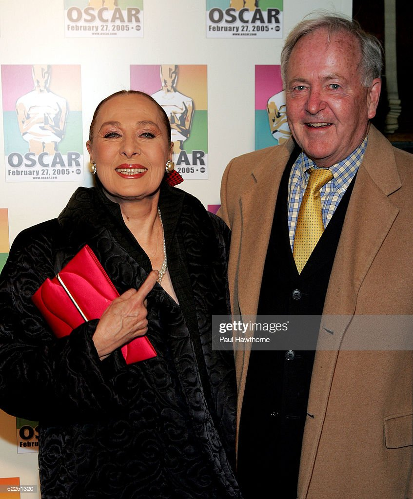 Actress Rita Gam and Michael Frazier attend the official New York celebration of the Academy Awards at Gabriel's February 27, 2005 in New York City.