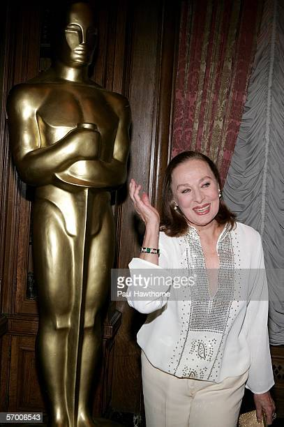 Actress Rita Gam attends the Academy of Motion Picture Arts Sciences New York Oscar Night Celebration at The St Regis Hotel March 5 2006 in New York...