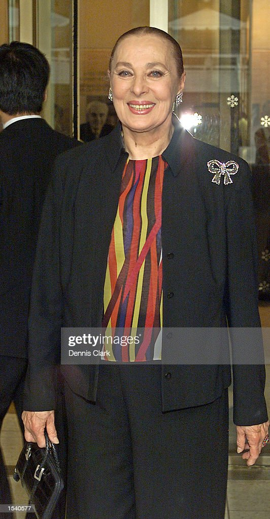 Actress Rita Gam attends the Film Society of Lincoln Center Gala Tribute to Francis Ford Coppola May 7, 2002 at the Avery Fisher Hall of the Lincoln Center in New York City.