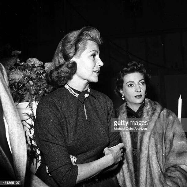 Actress Rita Hayworth attends a party in Los Angeles California