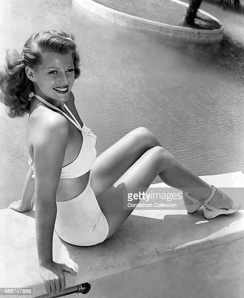 Actress Rita Hayworth poses for a publicity still circa 1945