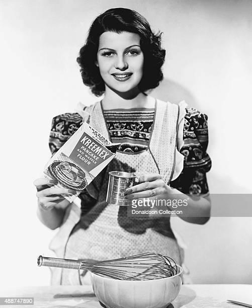 Actress Rita Hayworth poses for a publicity still for Kreemex Flour circa 1935