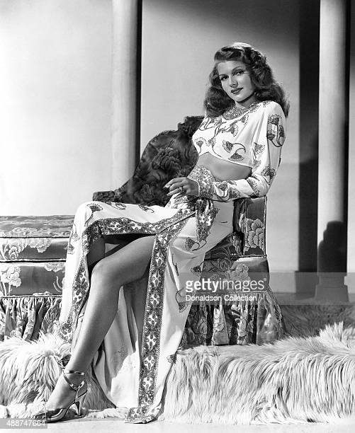 Actress Rita Hayworth poses for a publicity still for the Columbia Pictures movie 'Gilda' in 1946
