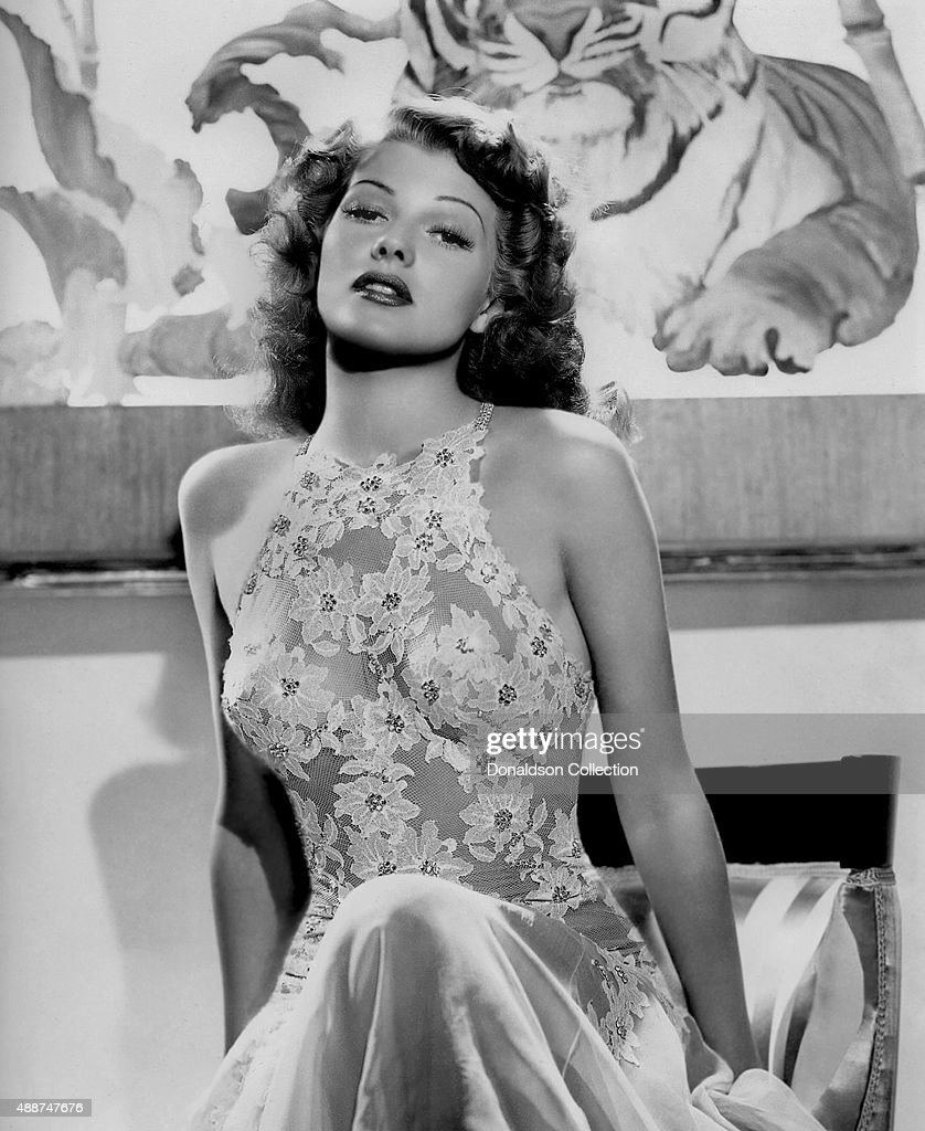 Actress <a gi-track='captionPersonalityLinkClicked' href=/galleries/search?phrase=Rita+Hayworth&family=editorial&specificpeople=70013 ng-click='$event.stopPropagation()'>Rita Hayworth</a> poses for a publicity still for the Columbia Pictures movie 'You Were Never Lovelier' in 1942.