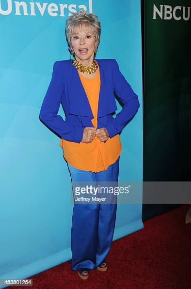Actress Rita Moreno attends the NBCUniversal press tour 2015 at the Beverly Hilton Hotel on August 12 2015 in Beverly Hills California