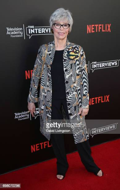 Actress Rita Moreno attends The Power of TV A Conversation with Norman Lear and One Day at a Time presented by the Television Academy Foundation and...