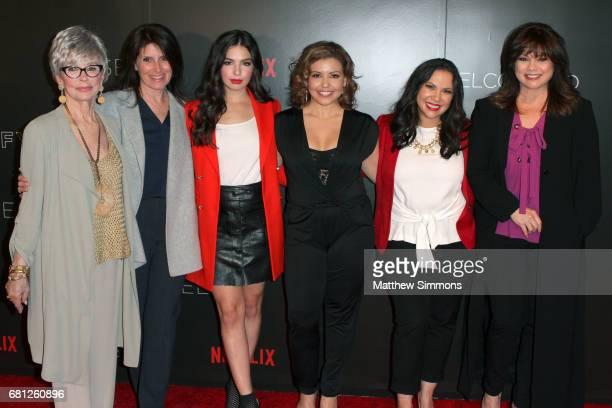 Actress Rita Moreno director Pamela Fryman actress Isabella Gomez actress Justina Machado actress Gloria Calderon Kellett and actress Valerie...