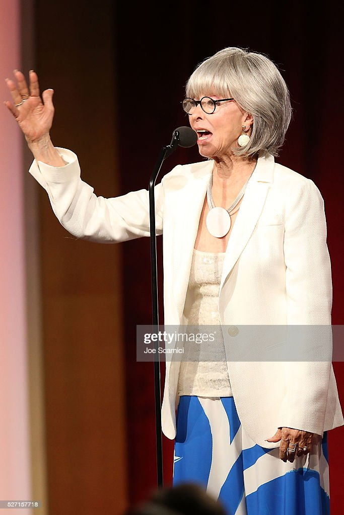 Actress <a gi-track='captionPersonalityLinkClicked' href=/galleries/search?phrase=Rita+Moreno&family=editorial&specificpeople=210549 ng-click='$event.stopPropagation()'>Rita Moreno</a> presents the Lifetime Achievement Award at the 43rd Annual Daytime Emmy Awards at the 2016 Daytime Emmy Awards at Westin Bonaventure Hotel on May 1, 2016 in Los Angeles, California.